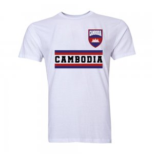 Cambodia Core Football Country T-Shirt (White)