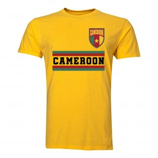 Cameroon Core Football Country T-Shirt (Yellow)