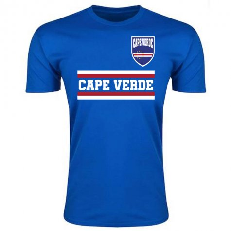 Cape Verde Core Football Country T-Shirt (Blue)