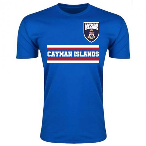 Cayman Islands Core Football Country T-Shirt (Blue)