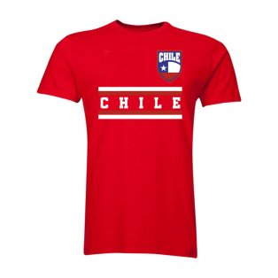 Chile Core Football Country T-Shirt (Red)