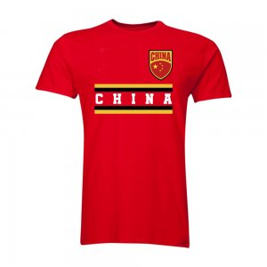 China Core Football Country T-Shirt (Red)