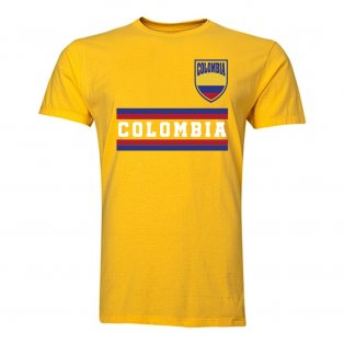 Colombia Core Football Country T-Shirt (Yellow)