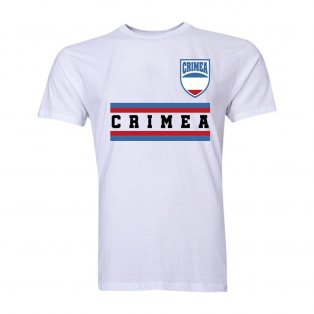 Crimea Core Football Country T-Shirt (White)
