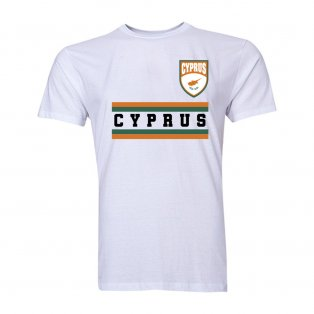 Cyprus Core Football Country T-Shirt (White)