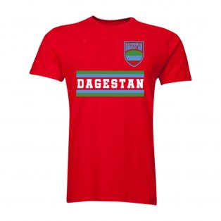 Dagestan Core Football Country T-Shirt (Red)