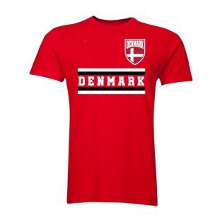 Denmark Core Football Country T-Shirt (Red)