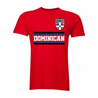 Dominican Core Football Country T-Shirt (Red)
