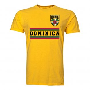 Dominica Core Football Country T-Shirt (Yellow)