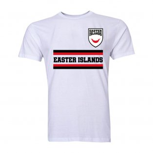Easter Islands Core Football Country T-Shirt (White)