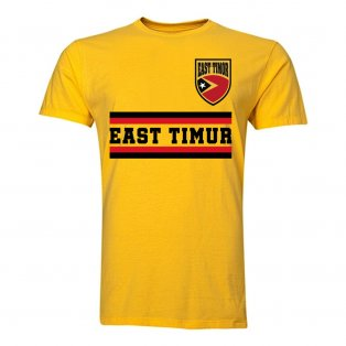 East Timur Core Football Country T-Shirt (Yellow)
