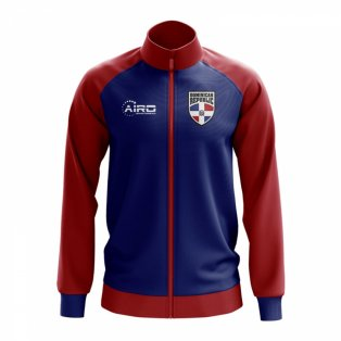Dominican Republic Concept Football Track Jacket (Blue)