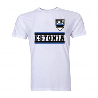 Estonia Core Football Country T-Shirt (White)