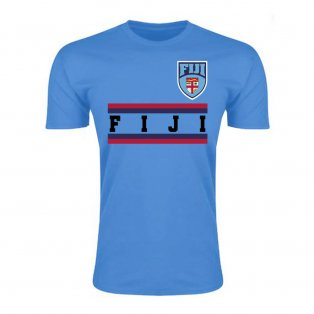 Fiji Core Football Country T-Shirt (Sky)