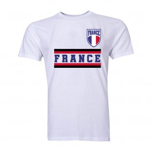 France Core Football Country T-Shirt (White)