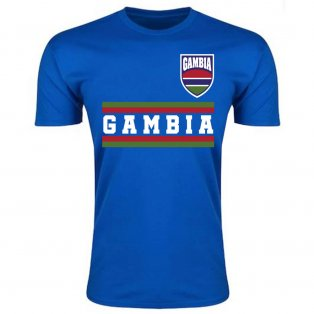 Gambia Core Football Country T-Shirt (Blue)