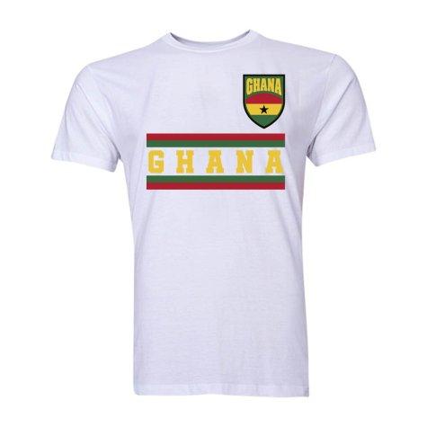 Ghana Core Football Country T-Shirt (White)