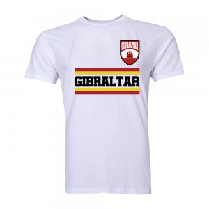 Gibraltar Core Football Country T-Shirt (White)