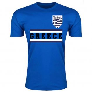 Greece Core Football Country T-Shirt (Blue)