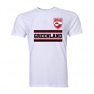 Greenland Core Football Country T-Shirt (White)