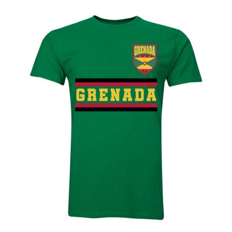 Grenada Core Football Country T-Shirt (Green)