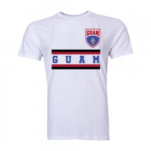 Guam Core Football Country T-Shirt (White)