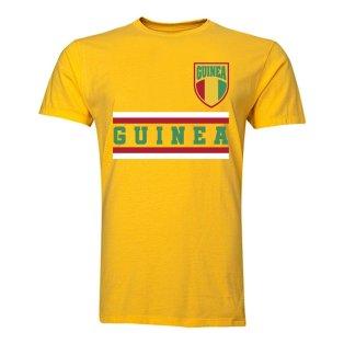 Guinea Core Football Country T-Shirt (Yellow)