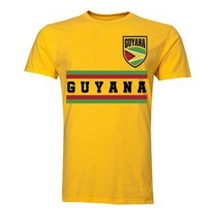 Guyana Core Football Country T-Shirt (Yellow)