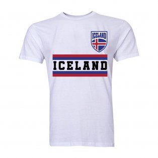 Iceland Core Football Country T-Shirt (White)