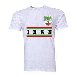 Iran Core Football Country T-Shirt (White)