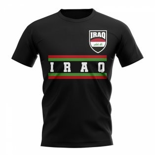 Iraq Core Football Country T-Shirt (Black)