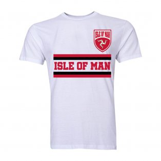 Isle Of Man Core Football Country T-Shirt (White)