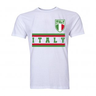 Italy Core Football Country T-Shirt (White)