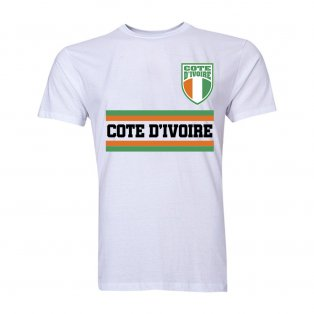 Ivory Coast Core Football Country T-Shirt (White)
