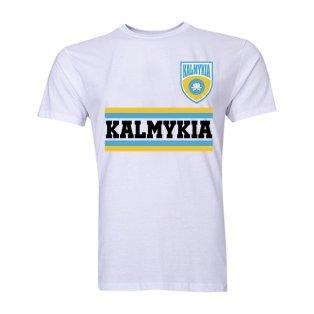 Kalmykia Core Football Country T-Shirt (White)