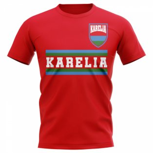 Karelia Core Football Country T-Shirt (Red)