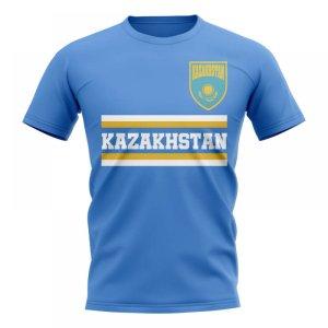 Kazakhstan Core Football Country T-Shirt (Blue)