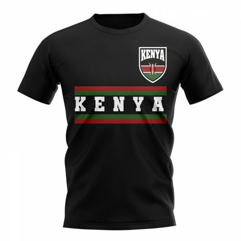 Kenya Core Football Country T-Shirt (Black)