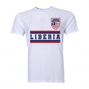 Liberia Core Football Country T-Shirt (White)