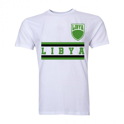 Libya Core Football Country T-Shirt (White)