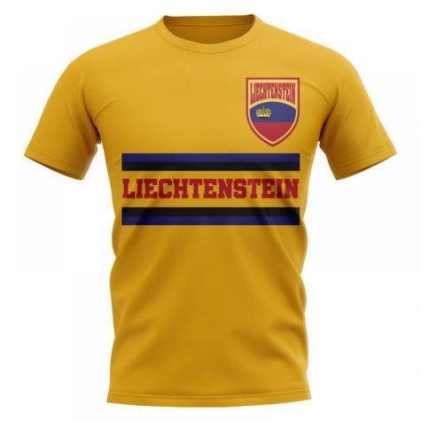 Liechtenstein Core Football Country T-Shirt (Yellow)