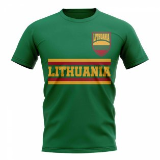 Lithuania Core Football Country T-Shirt (Green)