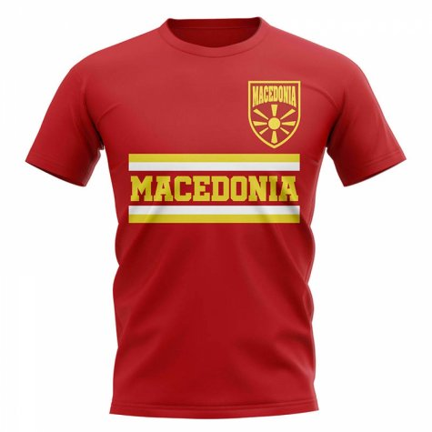 Macedonia Core Football Country T-Shirt (Red)