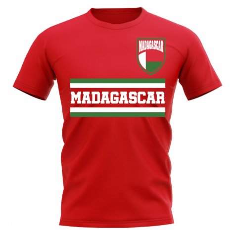 Madagascar Core Football Country T-Shirt (Red)