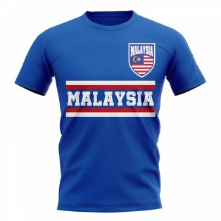Malaysia Core Football Country T-Shirt (Blue)
