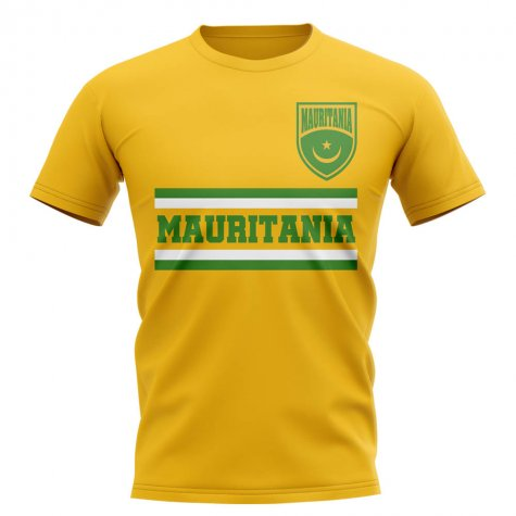 Mauritania Core Football Country T-Shirt (Yellow)