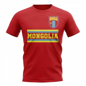 Mongolia Core Football Country T-Shirt (Red)