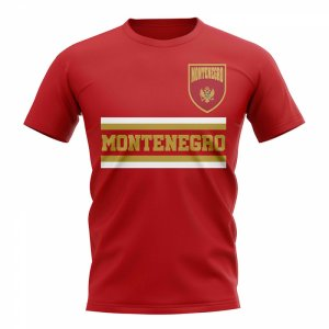 Montenegro Core Football Country T-Shirt (Red)