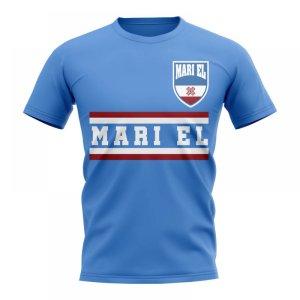 Mari El Core Football Country T-Shirt (Sky Blue)