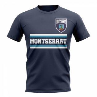 Montserrat Core Football Country T-Shirt (Navy)